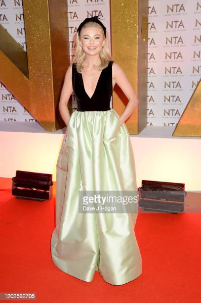 Georgia Toffolo attends the National Television Awards 2020 at The O2 Arena on January 28 2020 in London England