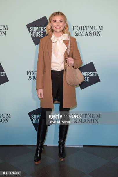 Georgia Toffolo attends the opening party of Skate at Somerset House with Fortnum Mason on November 13 2018 in London England London's favourite...