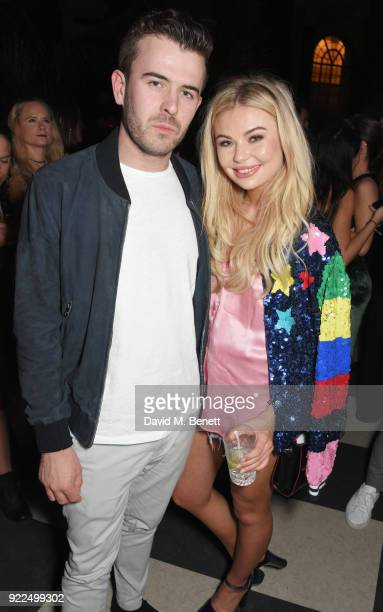 Georgia Toffolo attends the Universal Music BRIT Awards AfterParty 2018 hosted by Soho House and Bacardi at The Ned on February 21 2018 in London...