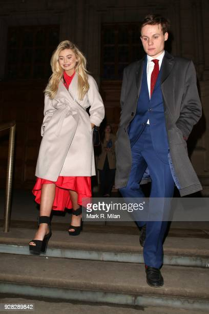 Georgia Toffolo leaving the Victoria and Albert Museum on March 6 2018 in London England