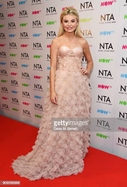 Georgia Toffolo poses in the press room at the National Television Awards 2018 at The O2 Arena on January 23 2018 in London England