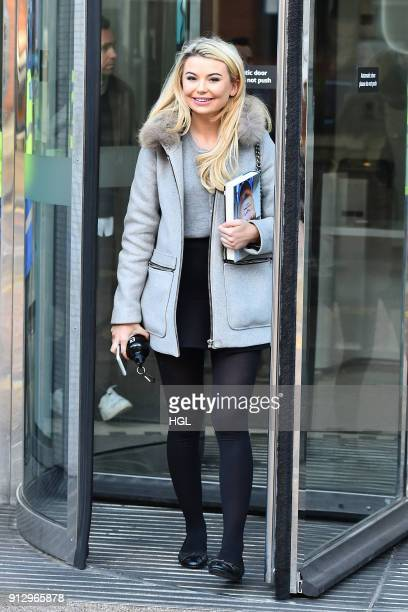Georgia Toffolo seen at the ITV Studios on February 1 2018 in London England