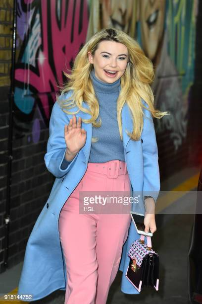 Georgia Toffolo seen at the ITV Studios on February 14 2018 in London England