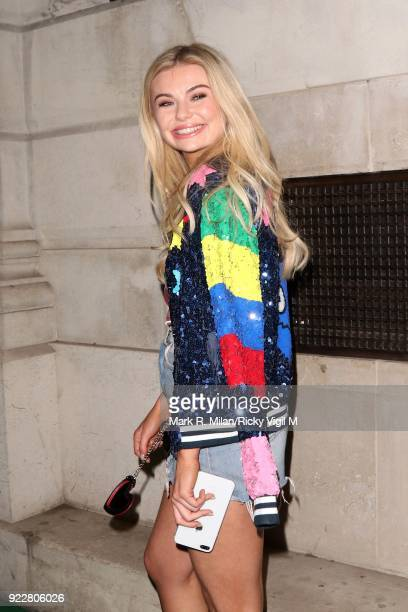 Georgia Toffolo seen at the NED Hotel on February 21 2018 in London England