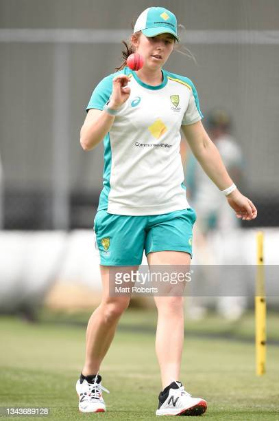 Georgia Wareham of Australia during a training session after a media opportunity ahead of the Women's International Test match between Australia and...