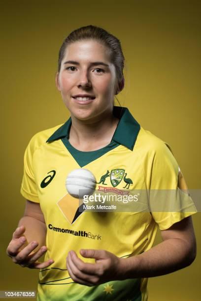 Georgia Wareham poses during the Cricket Australia Women's National Squad Player Camp on September 13 2018 in Sydney Australia