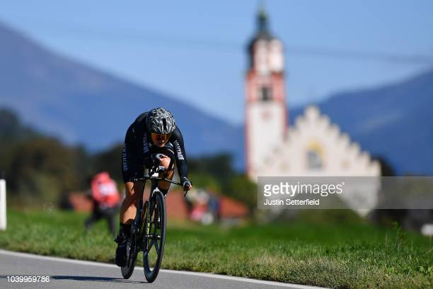 Georgia Williams of New Zealand / during the Women Elite Individual Time Trial a 278km race from Wattens to Innsbruck 582m at the 91st UCI Road World...