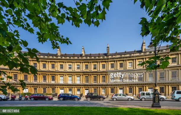 georgian architecture of the circus bath - bath england stock pictures, royalty-free photos & images