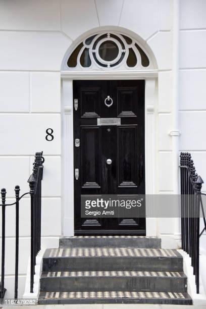 georgian door with fanlight frame - ジョージア調 ストックフォトと画像