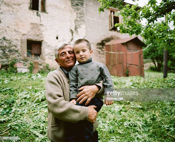 Georgian father and young son