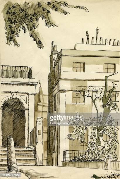 Georgian houses London circa 1950 Artist Shirley Markham