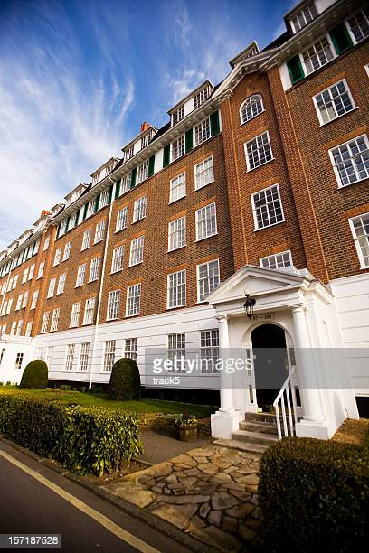 georgian period apartments in a desirable district of west london - richmond upon thames stock pictures, royalty-free photos & images
