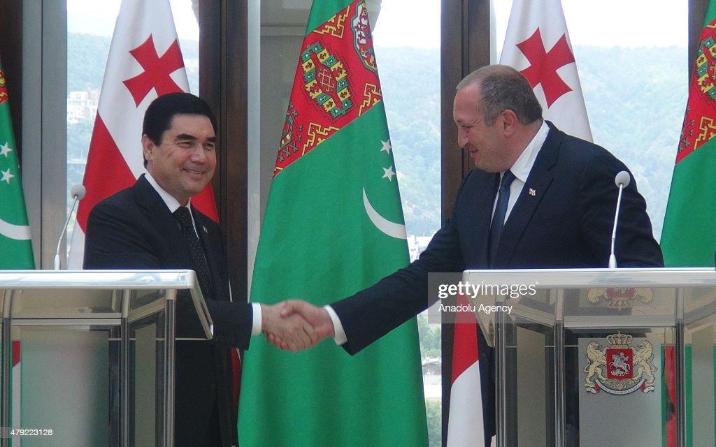 Giorgi Margvelashvili - Gurbanguly Berdimuhamedow : News Photo