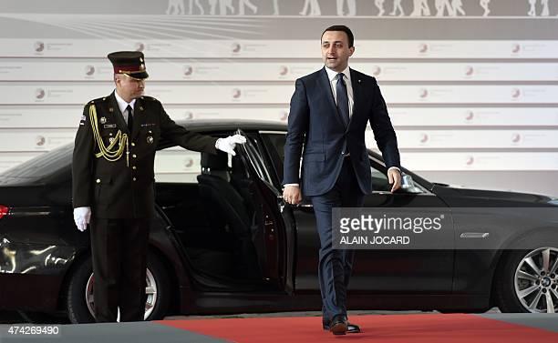 Georgian Prime minister Irakli Garibashvili arrives at the House of the Blackhead for an informal dinner at the start of the fourth European Union...