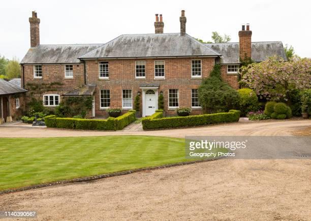 Georgian style architecture of Manor Farm, Huish, Vale of Pewsey, Wiltshire, England, UK.
