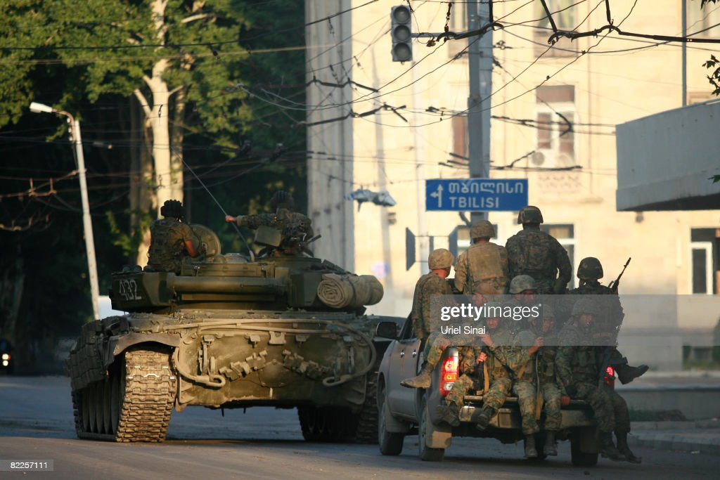 Georgia Conflict Escalates Despite Cease Fire Talk : Nyhetsfoto