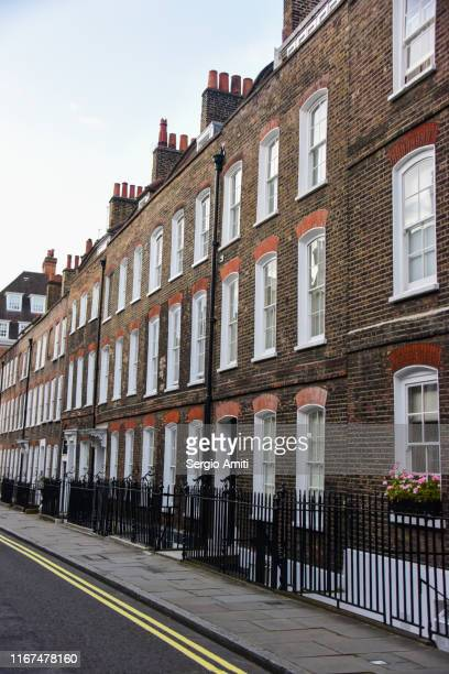 georgian terraced houses in london - english culture stock pictures, royalty-free photos & images