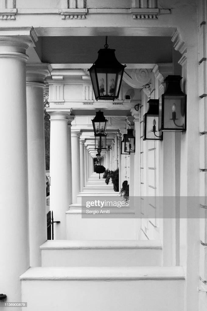 Georgian townhouses entrances : Stock Photo