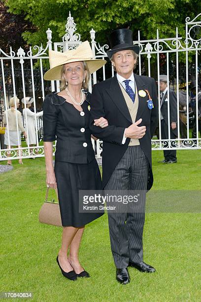 Georgiana Bronfman & Nigel Havers attends day one of Royal Ascot at Ascot Racecourse on June 18, 2013 in Ascot, England.