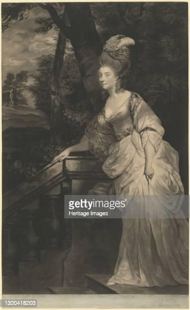 Georgiana , Duchess of Devonshire, 1780. Artist Valentine Green.