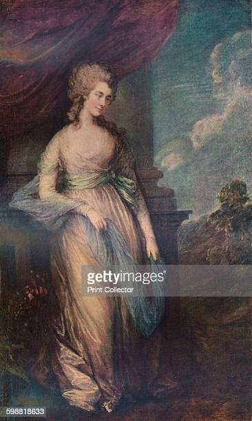 Georgiana, Duchess of Devonshire . Painting held at the National Gallery of Art, Washington. From A History of Painting, Volume VII, by Haldane...