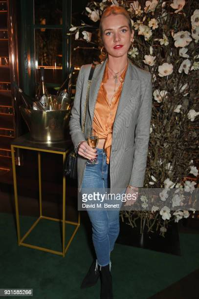Georgiana Huddart attends the launch of Champagne Armand de Brignac Blanc de Blancs en Magnum at Casa Cruz on March 13 2018 in London England