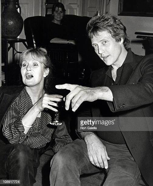 Georgianne Walken and Christopher Walken during Party for the Opening Night of 'Edmund Kean' at Players Club in New York City New York United States