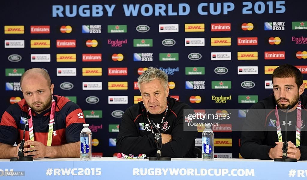 RUGBYU-WC-2015-GEO-PRESSER : News Photo