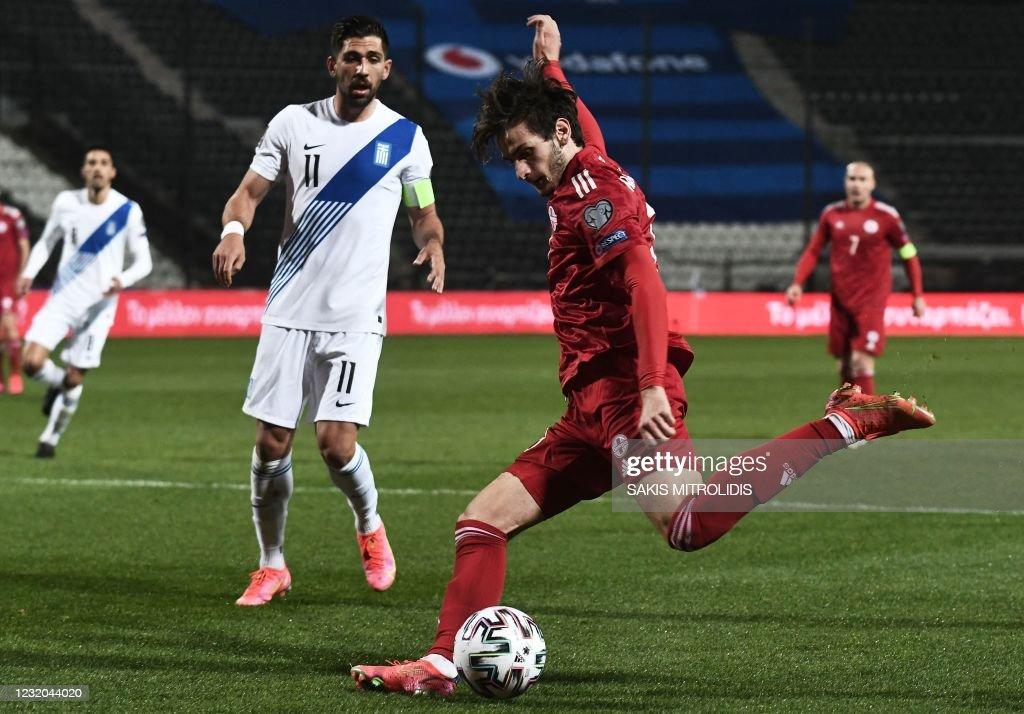 FBL-WC-2022-EUR-QUALIFIERS-GRE-GEO : News Photo