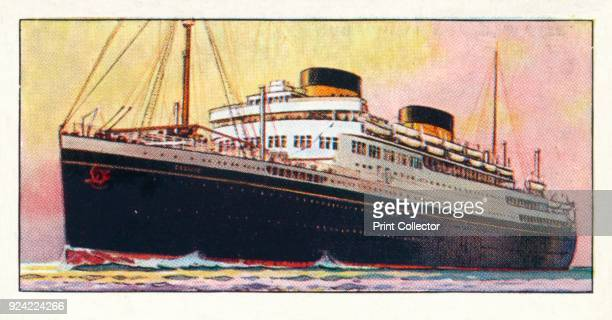 'MV Georgic 1937 From The Story of Navigation [The Imperial Tobacco Co Ltd 1937] Artist Unknown