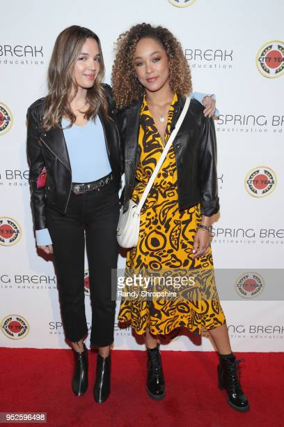 Georgie Flores and Chaley Rose attend City Year Los Angeles' Spring Break Destination Education at Sony Studios on April 28 2018 in Los Angeles...