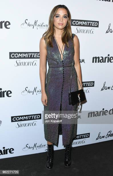 Georgie Flores attends Marie Claire's 5th Annual 'Fresh Faces' at Poppy on April 27 2018 in Los Angeles California