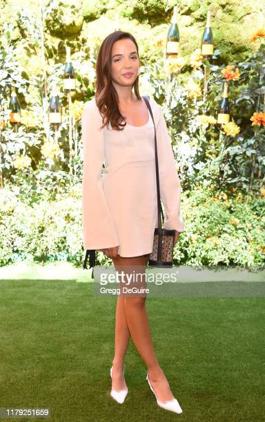Georgie Flores attends the 10th Annual Veuve Clicquot Polo Classic Los Angeles at Will Rogers State Historic Park on October 05 2019 in Pacific...