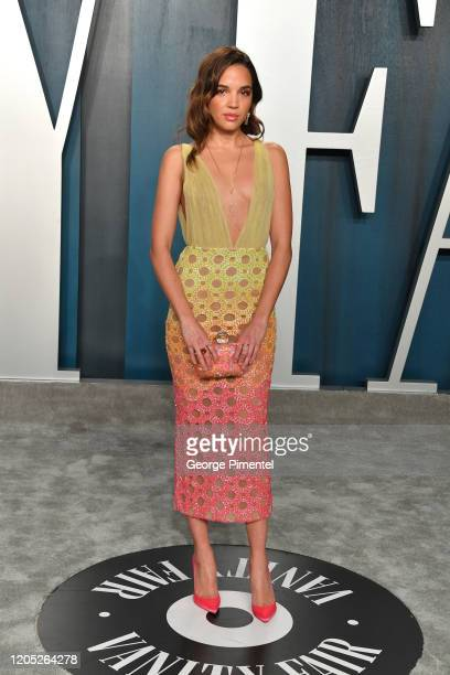 Georgie Flores attends the 2020 Vanity Fair Oscar party hosted by Radhika Jones at Wallis Annenberg Center for the Performing Arts on February 09...