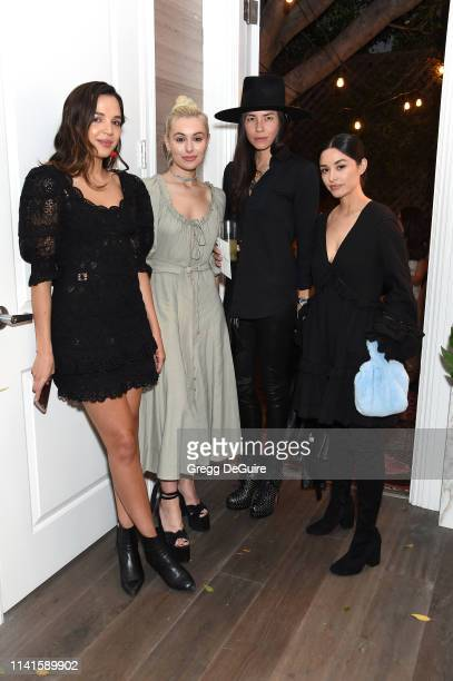 Georgie Flores Marta Pozzan Tasya van Ree and guest attend Jonathan Simkhai Sunset Soiree on April 09 2019 in West Hollywood California