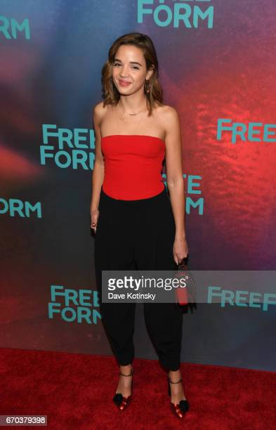 Georgie Flores of Famous In Love attends Freeform 2017 Upfront at Hudson Mercantile on April 19 2017 in New York City