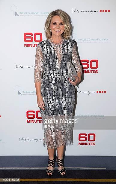 Georgie Gardener attends 60 minutes fund raising dinner for Katrina Dawson foundation on September 28 2015 in Sydney Australia