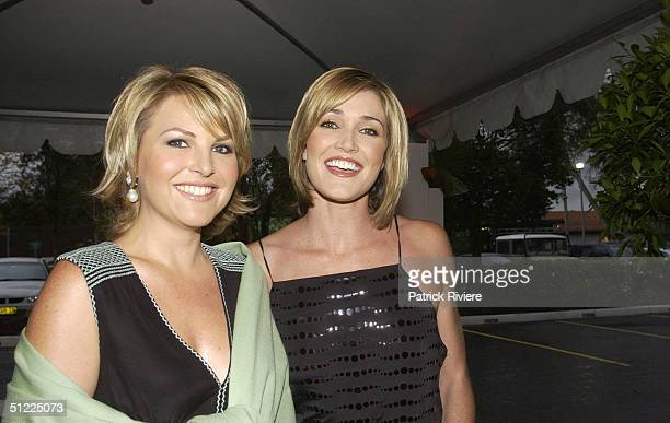 Georgie Gardiner and Anna Coren at the Channel Nine predrinks party for Brian Henderson 'Toasted and Roasted' Special farwell after 46 years in TV in...