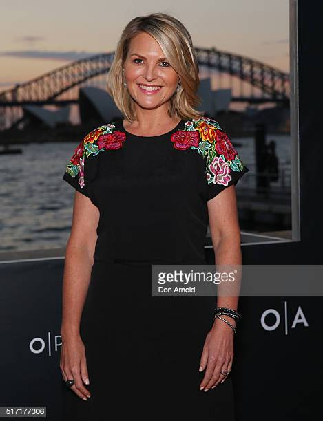Georgie Gardner arrives ahead of opening night of Handa Opera's Turandot on March 24 2016 in Sydney Australia