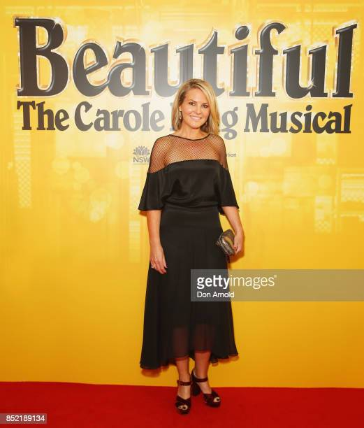 Georgie Gardner arrives ahead of premiere of Beautiful The Carole King Musical at Lyric Theatre Star City on September 23 2017 in Sydney Australia