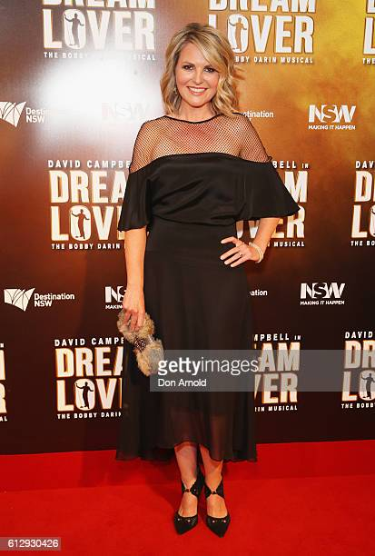Georgie Gardner arrives ahead of the premiere of Dream Lover The Bobby Darin Musical at Lyric Theatre Star City on October 6 2016 in Sydney Australia