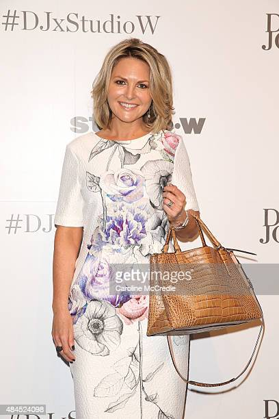 Georgie Gardner arrives ahead of the StudioW launch at David Jones Elizabeth Street Store on August 20 2015 in Sydney Australia