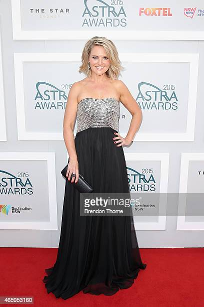 Georgie Gardner arrives at the 2015 ASTRA Awards at the Star on March 12 2015 in Sydney Australia