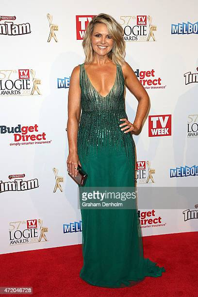 Georgie Gardner arrives at the 57th Annual Logie Awards at Crown Palladium on May 3 2015 in Melbourne Australia