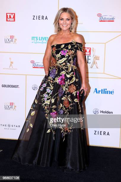 Georgie Gardner arrives at the 60th Annual Logie Awards at The Star Gold Coast on July 1 2018 in Gold Coast Australia