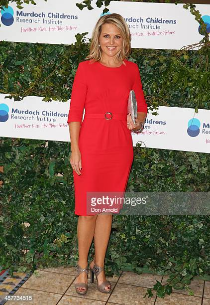 Georgie Gardner arrives at the Murdoch Childrens Research Institute Mother's Day Garden party at Boomerang on May 2 2014 in Sydney Australia