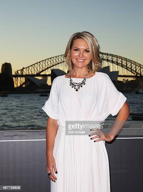 Georgie Gardner attends Handa Opera's Aida opening night at the Fleet Steps on March 27 2015 in Sydney Australia