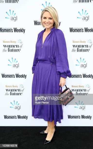 Georgie Gardner attends the Women of the FutureAwards at Quay on September 5 2018 in Sydney Australia