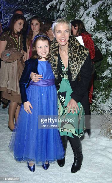 Georgie Henley and Annie Lennox during 'The Chronicles of Narnia The Lion The Witch and the Wardrobe' London Premiere After Party at Kensington...