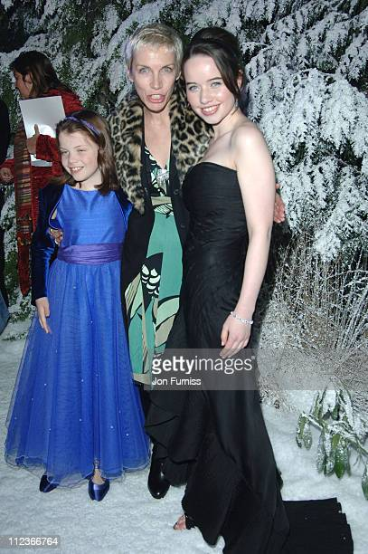 Georgie Henley Annie Lennox and Anna Popplewell during 'The Chronicles of Narnia The Lion The Witch and the Wardrobe' London Premiere After Party at...